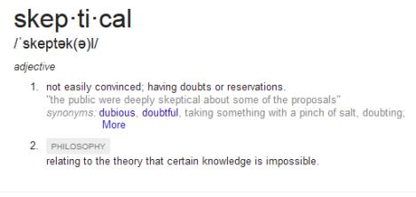 skeptical-definition
