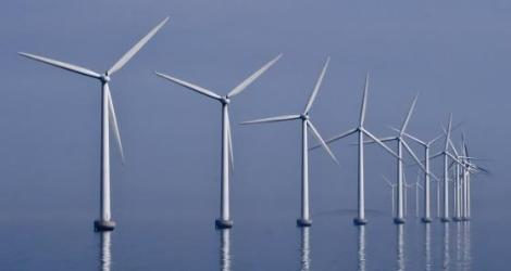 This is an example of an offshore wind farm. CREDIT Kim Hansen, Creative Commons